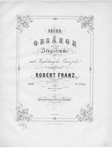 Шесть песен, Op.35: Клавир с вокальной партией by Роберт Франц