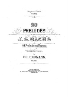 Хорошо темперированный клавир. Избранное: Прелюдии, для скрипки и альта (Часть I) by Иоганн Себастьян Бах