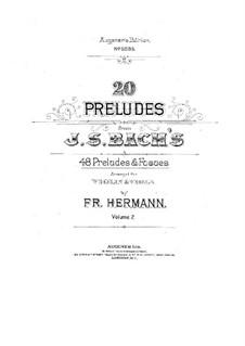 Хорошо темперированный клавир. Избранное: Прелюдии, для скрипки и альта (Часть II) by Иоганн Себастьян Бах