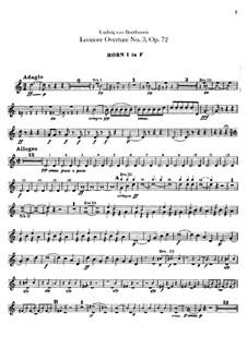 Леонора. Увертюра No.3, Op.72b: Партии валторн by Людвиг ван Бетховен