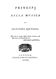 Principj della Musica (Principles of Music): Principj della Musica (Principles of Music) by Salvatore Bertezen
