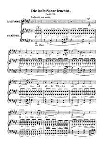 Шесть песен, Op.42: No.2 Die helle Sonne leuchtet (The Cheerful Sunbeams Glisten) by Роберт Франц