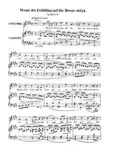 Шесть песен, Op.42: No.6 Wenn der Frühling auf die Berge steigt (When the Spring Blooms on the Mountains High) by Роберт Франц