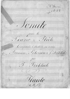 Соната для флейты и фортепиано до мажор: Соната для флейты и фортепиано до мажор by Йоганнес Фредерик Фрёхлик