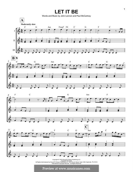 Let it Be (The Beatles): Для укулеле by John Lennon, Paul McCartney