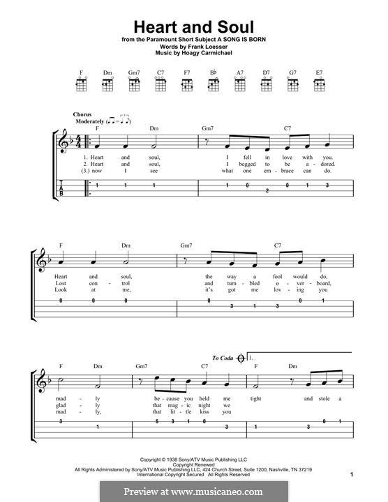 Heart and Soul: Для укулеле by Hoagy Carmichael