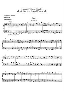 Музыка фейерверка, HWV 351: Партия бассо континуо by Георг Фридрих Гендель