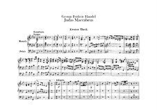 Иуда Маккавей, HWV 63: Партия органа by Георг Фридрих Гендель