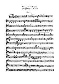 Симфония No.101 ре мажор 'Часы', Hob.I/101: Партии валторн by Йозеф Гайдн