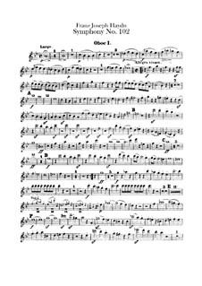 Симфония No.102 си-бемоль мажор, Hob.I/102: Партии I-II гобоев by Йозеф Гайдн
