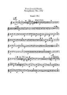 Симфония No.102 си-бемоль мажор, Hob.I/102: Партии I-II труб by Йозеф Гайдн