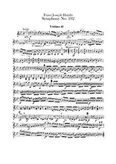 Симфония No.102 си-бемоль мажор, Hob.I/102: Скрипка II by Йозеф Гайдн