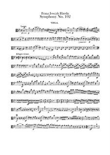 Симфония No.102 си-бемоль мажор, Hob.I/102: Партия альта by Йозеф Гайдн