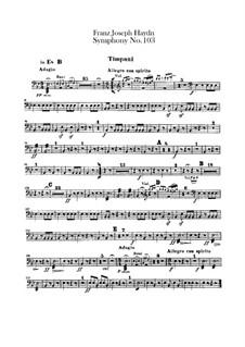 Симфония No.103 ми-бемоль мажор 'С тремоло литавр', Hob.I/103: Партия литавр by Йозеф Гайдн