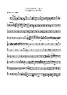 Симфония No.104 ре мажор 'Лондонская', Hob.I/104: Партия литавр by Йозеф Гайдн