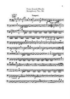 Симфония No.86 ре мажор, Hob.I/86: Партия литавр by Йозеф Гайдн