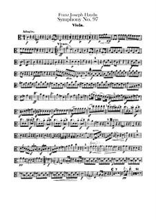 Симфония No.97 до мажор, Hob.I/97: Партия альта by Йозеф Гайдн