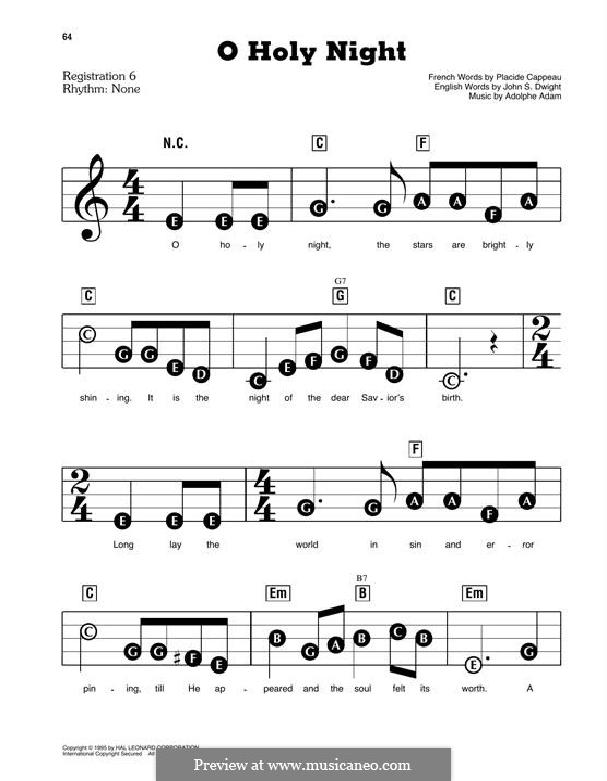 Piano version: Easy version by Адольф Адам