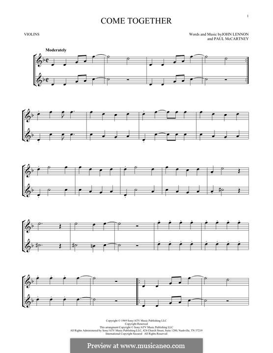 Come Together (The Beatles): Для скрипки by John Lennon, Paul McCartney