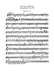 Симфония No.99 ми-бемоль мажор, Hob.I/99: Партии I-II валторн by Йозеф Гайдн