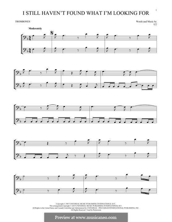 I Still Haven't Found What I'm Looking for: For trombone by U2