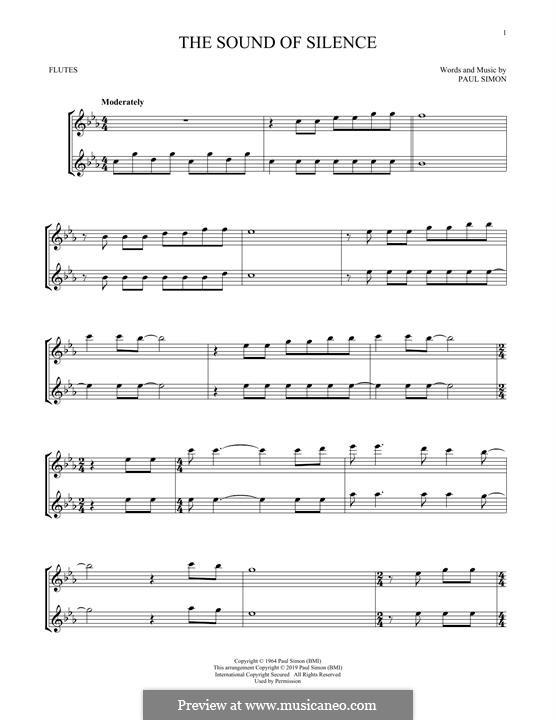 The Sound of Silence (Simon & Garfunkel): Для флейты by Paul Simon