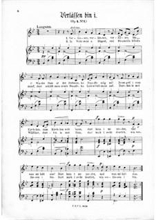 Три песни, Op.4: Nr.1 Verlâssen bin i by Томас Кошат