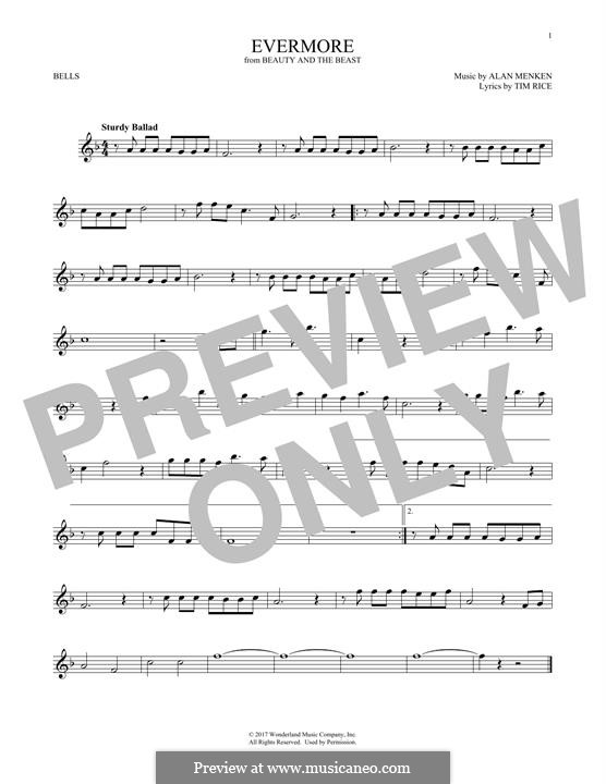 Evermore (from Beauty and the Beast): For glockenspiel by Alan Menken