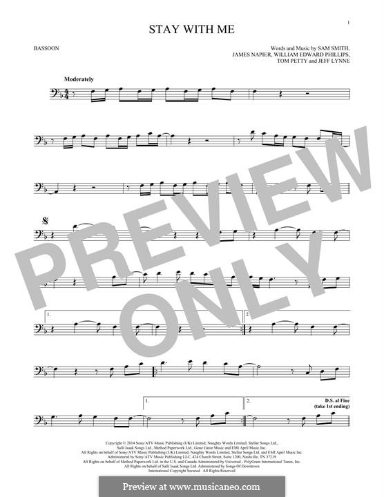 Stay with Me: For bassoon by Samuel F Smith, James Napier, William Phillips