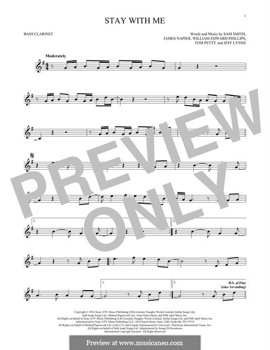 Stay with Me: Bass clarinet by Samuel F Smith, James Napier, William Phillips