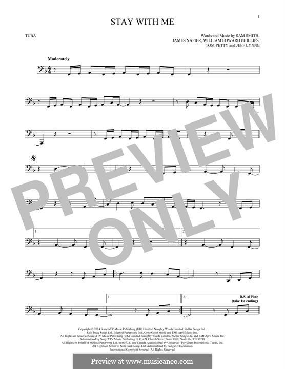 Stay with Me: For tuba by Samuel F Smith, James Napier, William Phillips