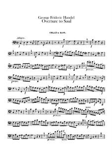 Саул, HWV 53: Увертюра – Партия виолончели и контрабаса by Георг Фридрих Гендель