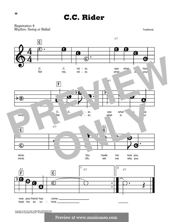 C.C. Rider: Для фортепиано by folklore