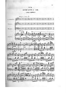 Le bijou perdu: Акт II, клавир с вокальной партией by Адольф Адам
