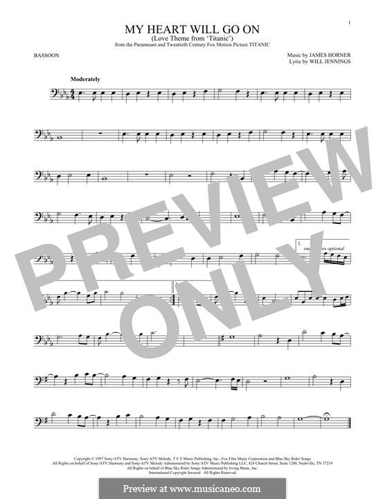 My Heart Will Go On (Love Theme from Titanic): For bassoon by James Horner