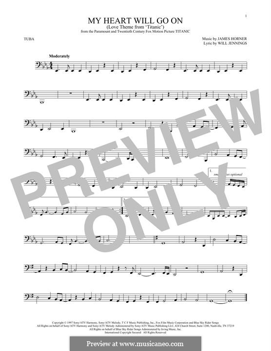 My Heart Will Go On (Love Theme from Titanic): For tuba by James Horner