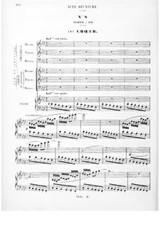 Королева Египта: Акт II, для солистов, хора и фортепиано by Фроменталь Галеви