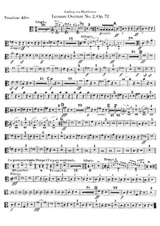 Леонора. Увертюра No.2 до мажор, Op.72a: Партии тромбонов by Людвиг ван Бетховен