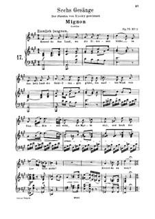 Шесть песен, Op.75: Клавир с вокальной партией by Людвиг ван Бетховен