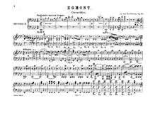 Эгмонт, Op.84: Увертюра, для двух фортепиано в восемь рук – партия второго фортепиано by Людвиг ван Бетховен