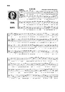 O sacrum convivium: O sacrum convivium by Giuseppe Antonio Bernabei