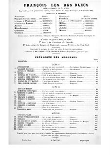 François les Bas-Bleus: Version for soloists, choir and piano by Фирмин Берникат