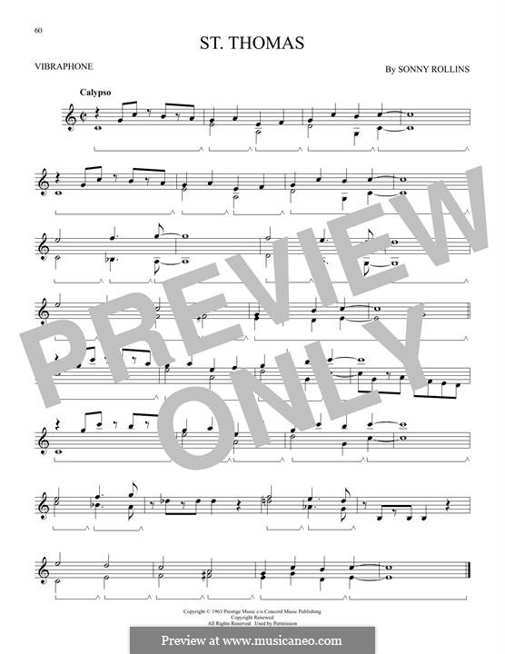 Vocal-instrumental version: For vibraphone by Sonny Rollins