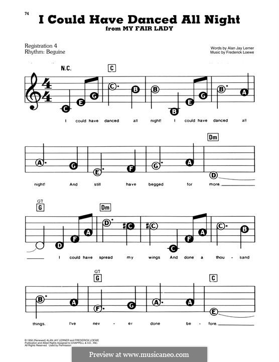I Could Have Danced All Night (from My Fair Lady): Для фортепиано by Frederick Loewe
