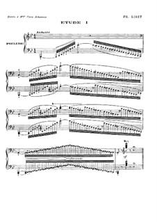 Большие этюды по Паганини, S.141: No.1 соль минор by Франц Лист