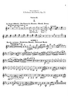 Детство Христа, H.130 Op.25: Партия II скрипки by Гектор Берлиоз