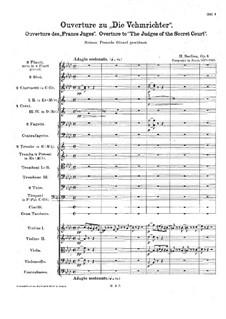 Тайные судьи. Увертюра, H.23 Op.3: Партитура by Гектор Берлиоз