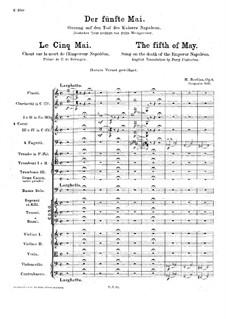 Пятое мая, H.74 Op.6: Пятое мая by Гектор Берлиоз