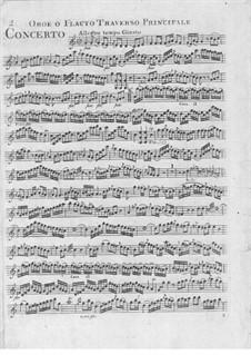 Концерт для гобоя, флейт и струнных до мажор: Партии гобоя и флейт by Эрнст Айхнер
