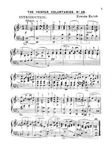 The Vesper Voluntaries, Op.14: Для фортепиано by Эдуард Элгар